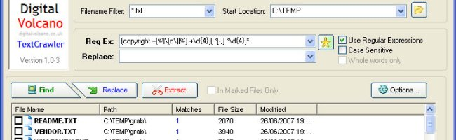 textcrawler Recherchez et remplacez dans plusieurs fichiers rapidement et facilement
