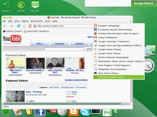 gos1 gOs (Green OS) Live CD dispo en download sur Bittorrent