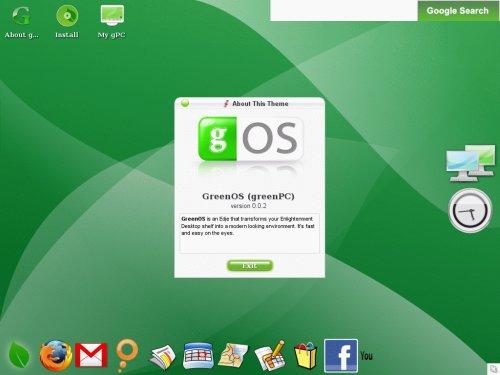 gos3 gOs (Green OS) Live CD dispo en download sur Bittorrent