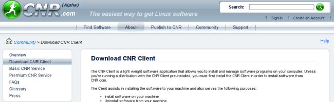 capturecnr CNR simplifie la recherche et linstallation de logiciels sous Linux