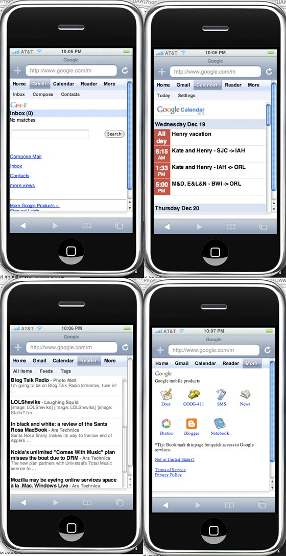 §Interface Google sur iPhone