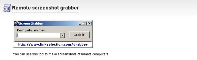 remotescreenshotgrab Faites de la capture écran à distance avec LSGrab