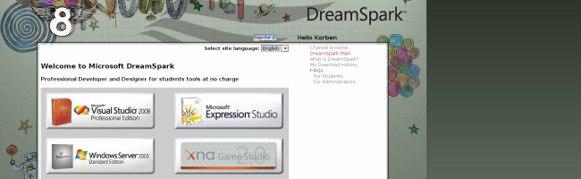 dreamspark Les derniers logiciels Microsoft gratuits pour les étudiants