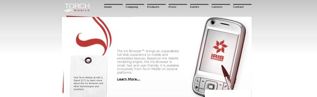 irisbrowser Iris Mobile, le navigateur Safari pour Windows Mobile