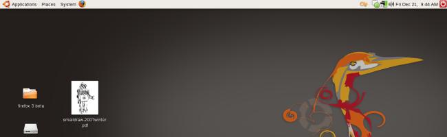 screenshot Ubuntu Hardy Heron 8.04 passe en beta