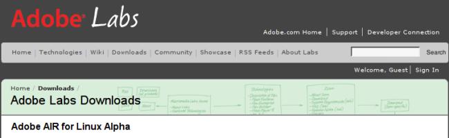 capture 6 Adobe AIR pour Linux version alpha en téléchargement