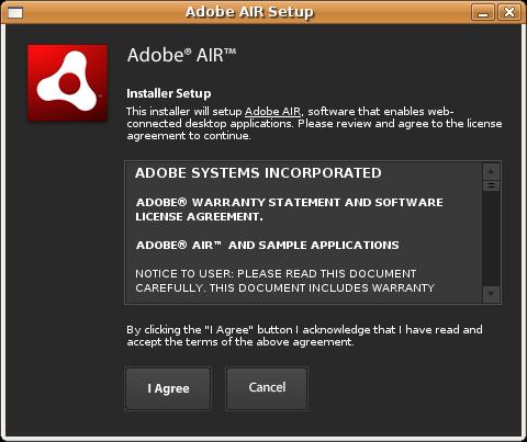 capture adobe air setup Adobe AIR pour Linux version alpha en téléchargement