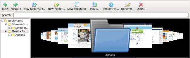 coverflow Bookmark Preview, le coverflow pour les bookmarks de Firefox