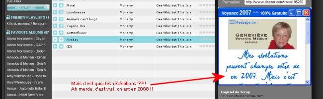 deezerpub Apprenez ce qui va vous arriver en 2007 avec Geneviève et Deezer