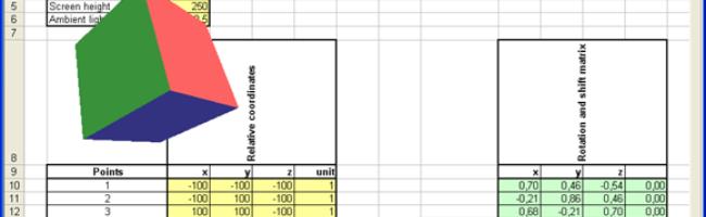 figure81 Un moteur 3D dans Excel ?