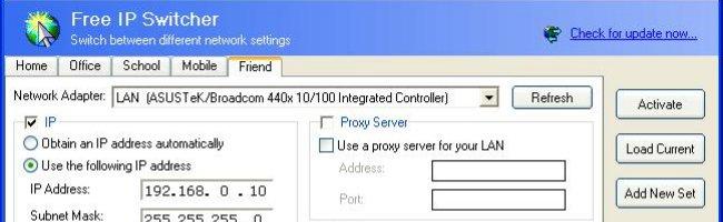 freeipswitch Changez rapidement de config réseau avec Free IP Switcher