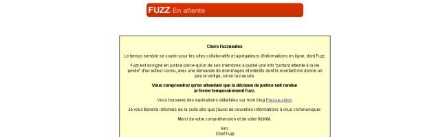 fuzz Eric de PresseCitron attaqué en justice par un acteur pour un lien sur Fuzz