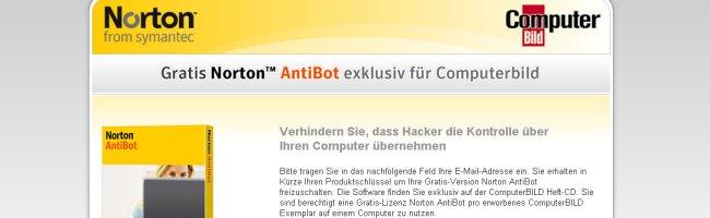 nortonantiii Gratuit : Des licences d1 an pour Norton <strike>Antivirus</strike> AntiBot