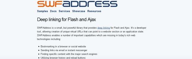 swfadress Une librairie javascript pour gérer les URLs et la navigation dans vos flashs