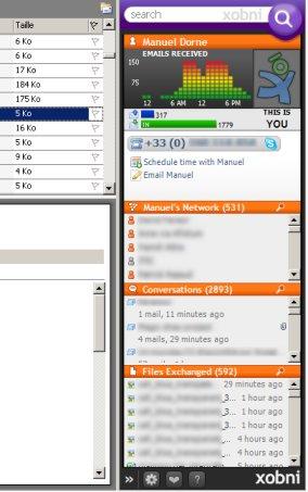 xobni1 Xobni, le plugin idéal pour vos recherches dans Outlook