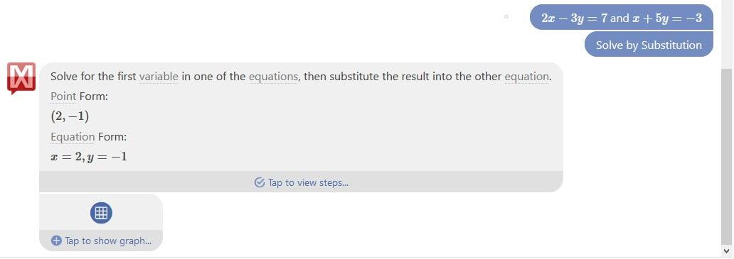 Faire des équations avec Mathway