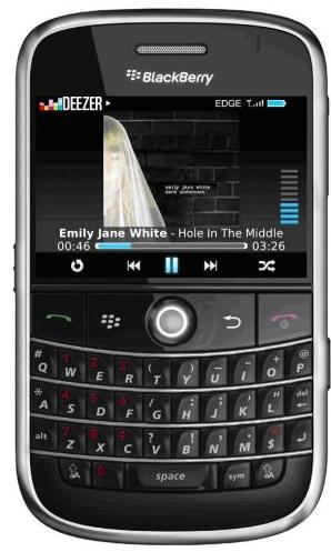 deezerblackberry Deezer va lancer une offre payante sur téléphone mobile