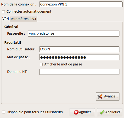 Capture-Modification de Connexion VPN 1