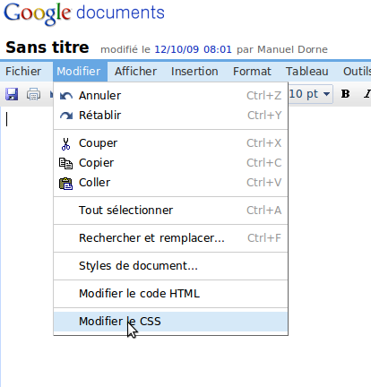 Capture 183 Google Docs en mode concentration