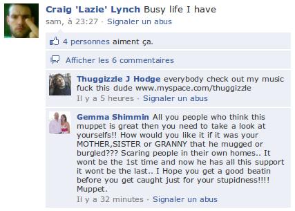 Capture 25 Un fugitif met son compte Facebook à jour