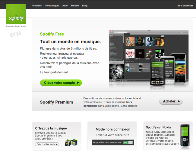 Spotify sans invitation