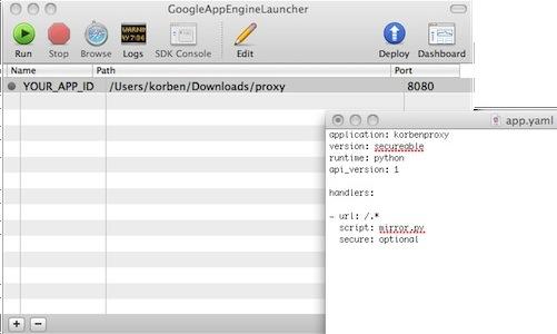 config Créer gratuitement et en quelques secondes un serveur proxy