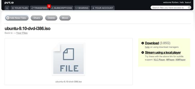 Capture d'écran 2010 04 15 à 14.36.42 Put.io   Le stockage de fichiers en ligne revu et corrigé