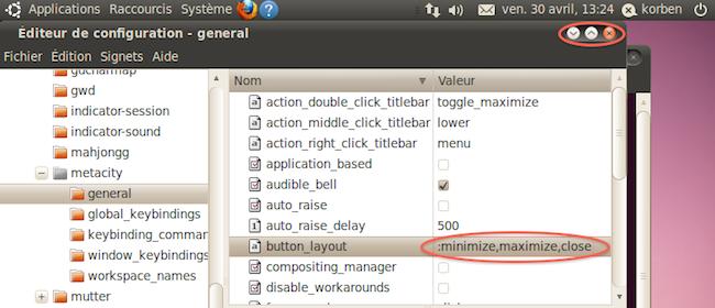 Capture d'écran 2010 04 30 à 13.24.40 Comment remettre à droite les boutons des fenêtres Gnome dans Ubuntu 10.04 ?