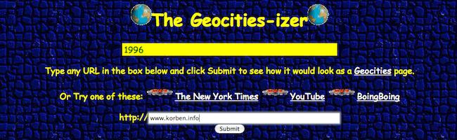 Redonnez un look 90′ à votre site web