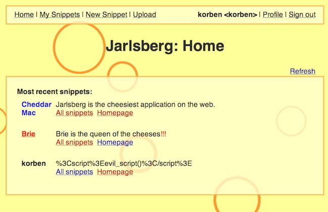 Capture d'écran 2010 05 04 à 17.29.27 Jarlsberg   Formez vous à la sécurité des applications web