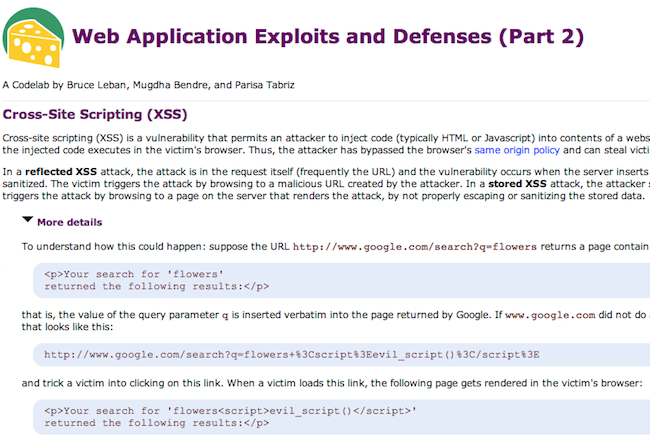 Capture d'écran 2010 05 04 à 17.48.50 Jarlsberg   Formez vous à la sécurité des applications web