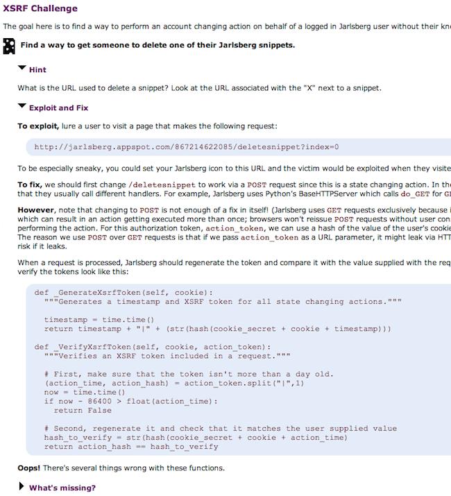 Capture d'écran 2010 05 04 à 17.49.09 Jarlsberg   Formez vous à la sécurité des applications web