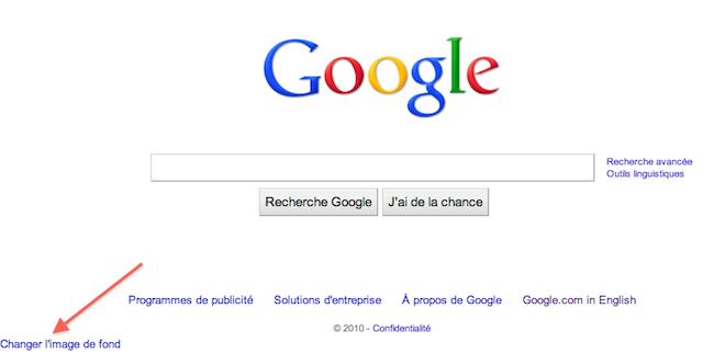 cap 2010 06 09 à 14.31.36 Changer limage de fond sur Google