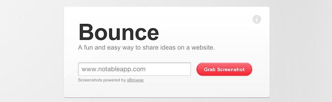 BounceApp – Annotez vos sites web avec style