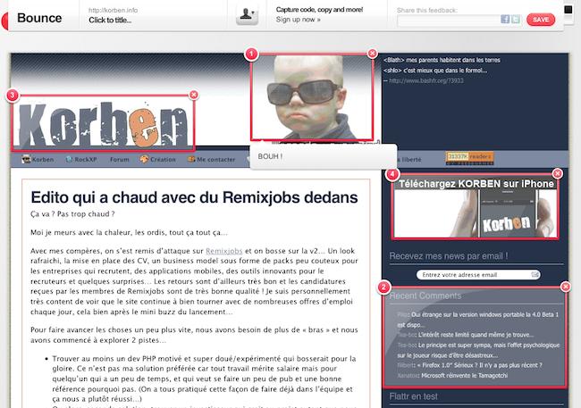 cap 2010 07 15 à 10.45.11 BounceApp   Annotez vos sites web avec style