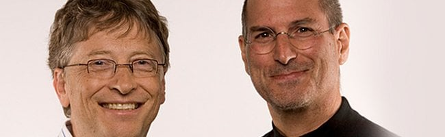 gatesjobs Bill Gates VS Steve Jobs