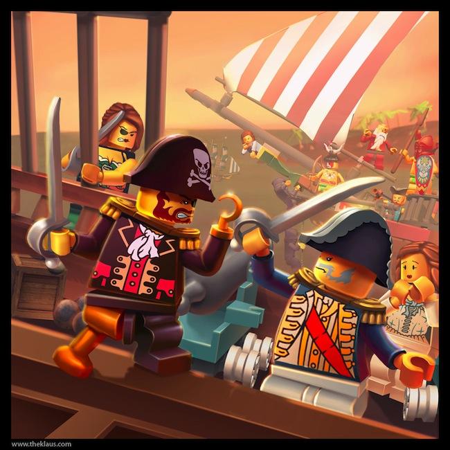 Lego  Pirate Painting by Emosktr Des fonds décran LEGO pour rester dans le coup