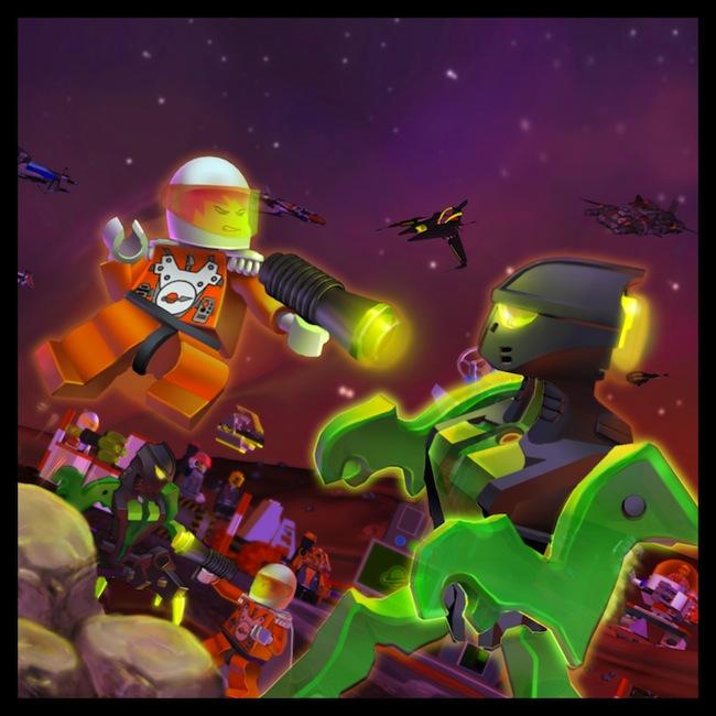 Lego  Space Painting by Emosktr Des fonds décran LEGO pour rester dans le coup