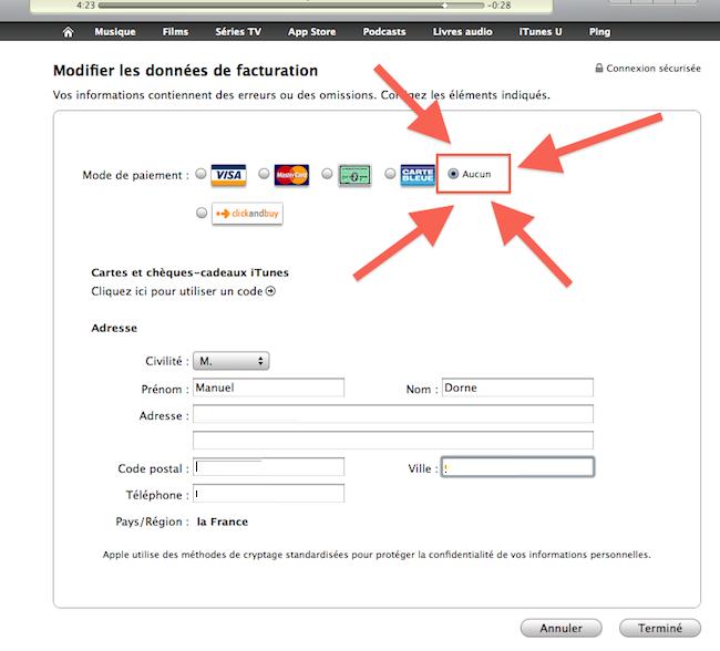 cap 2010 10 19 à 00.43.47 Comment créer un compte iTunes sans carte bleue