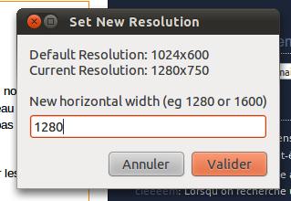 Capture 1 Augmenter la résolution écran sous Ubuntu sans contraintes matérielles