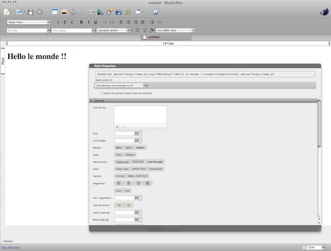 cap 2011 01 13 à 13.05.22 Bluegriffon   Un excellent éditeur HTML WYSIWYG libre