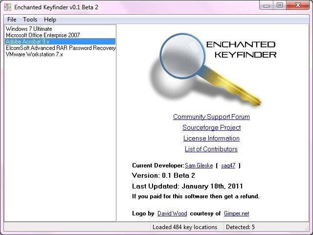 screenshot 1 Une clé de licence perdue ?
