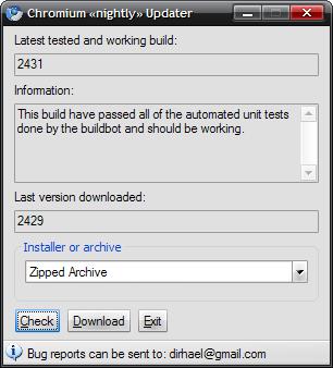 screenshot1 Chromium   Mise à jour automatique