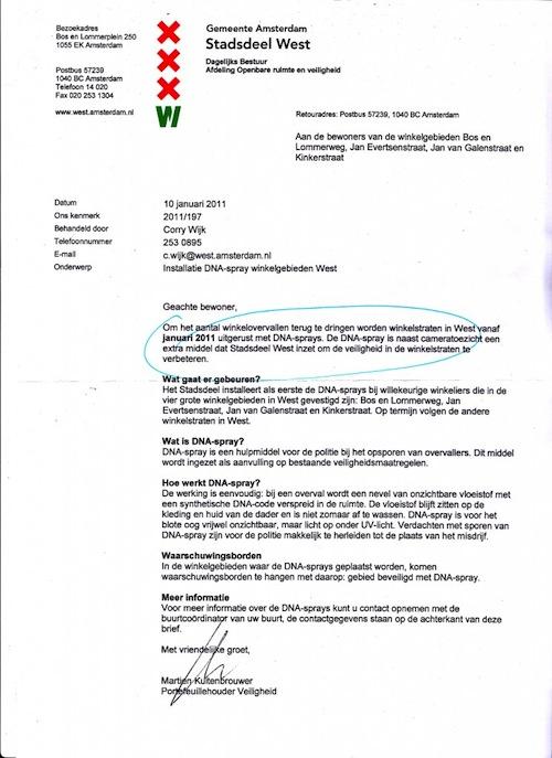 IMG1 745x1024 Des sprays à ADN dans les rues dAmsterdam