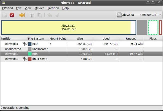 gparted 1 big Gparted 0.8 – Récupérer des données perdues