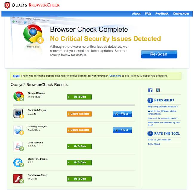 cap 2011 03 23 à 13.51.241 BrowserCheck   Testez la sécurité de votre navigateur internet