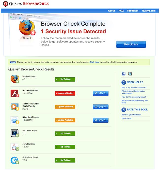 cap 2011 03 23 à 13.53.071 BrowserCheck   Testez la sécurité de votre navigateur internet