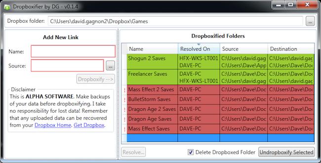 Dropboxifier Utiliser Dropbox pour vos applications