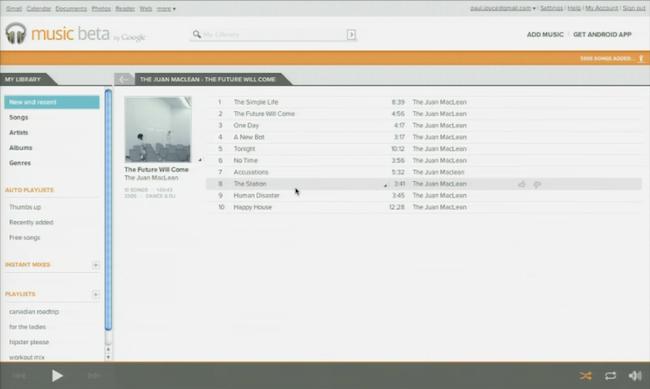 cap 2011 05 10 à 18.37.09 Premières images de Google Music Beta